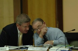Senator Mitch Fifield (Left) and Senator Alan Eggleston (Right).  Photo Courtesy of www.mitchfifield.com