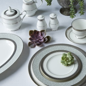 Noritake China – Odessa Platinum Collection. Photo courtesy of www.noritakechina.com
