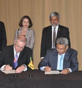 The Hon. Scott Morrison and Mr Gotabaya Rajapaksa -- Source: Sri Lankan High Commission in Canberra